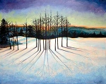 Edge of Sun and Snow,20x24,a/c, SOLD