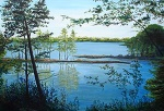 Reflections at Five O'Clock,24x36,a/c, SOLD