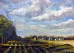 Sunlight on the Fields, 14x18, o/cb