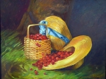 Copy of Harvest of Cherries by Dunning, 14x18, o/c