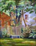 Le Fence, 16x20, o/hb