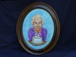 Grannie's 90th, 11x14 oval, o/c, NFS